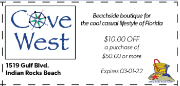 Coupon for Cove West on Indian Rocks Beach