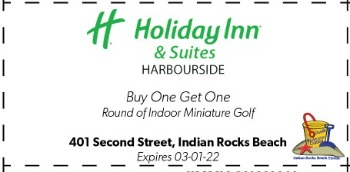 Coupon for Mini Golf at Holiday Inn Harbourside on Indian Rocks Beach