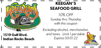 Coupon for Keegans Seafood Grille on Indian Rocks Beach