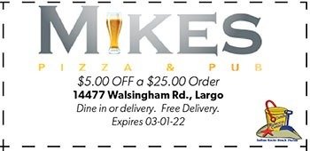 Coupon for Mike's Pizza & Pub in Largo