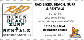 Coupon for Rad Bikes, Beach, Surf, and Rentals on Redington Shores