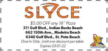 Coupon for Slyce Pizza Bar